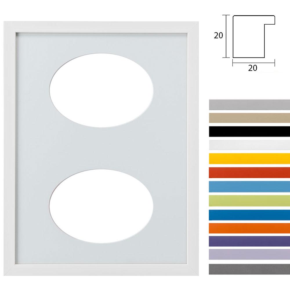 2 Foto's Gallery Top Cube, 30x40 cm ovale knipsel