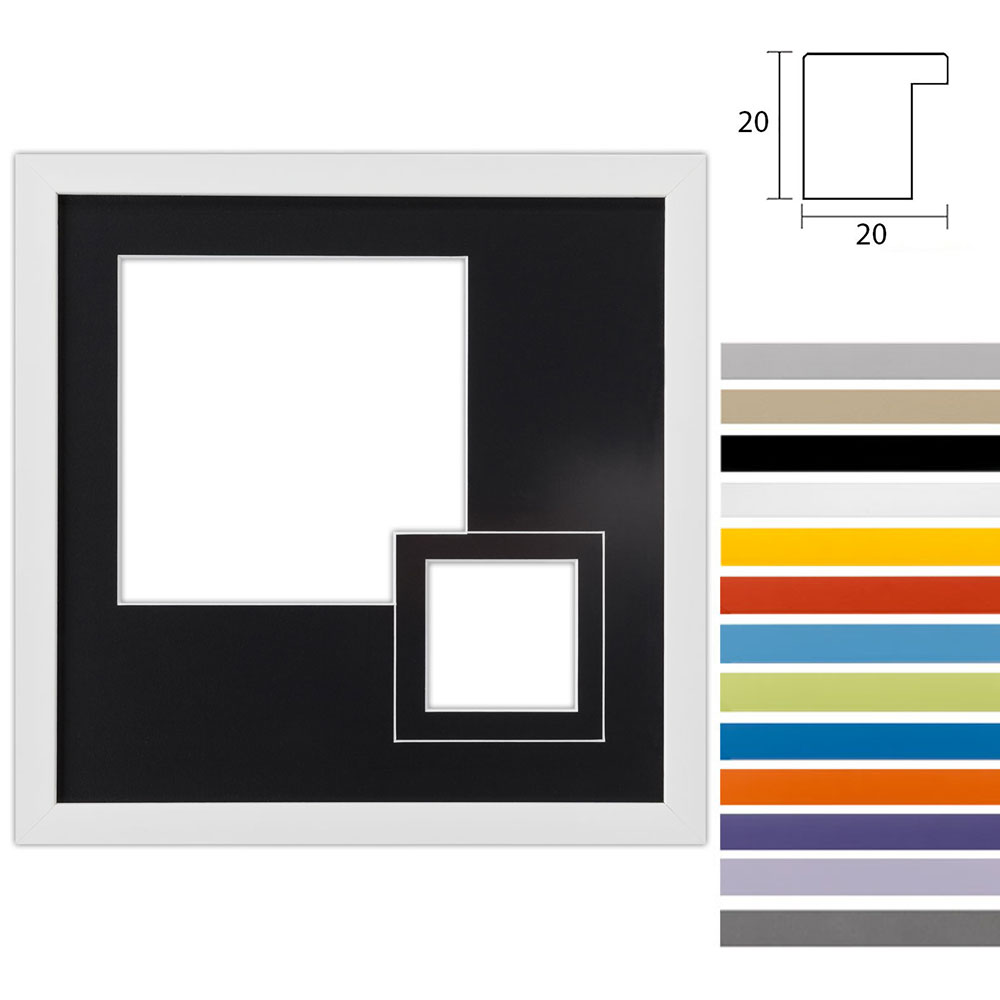 2 Foto's Gallery Top Cube, 30x30 cm