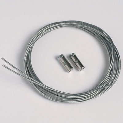 50 stukken staalkoord 1,3mm/200cm met glijdend schroeven (max. draagvermogen 7 kg)