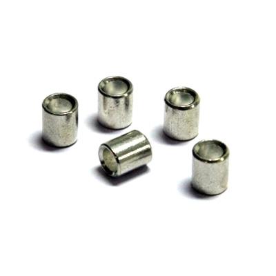 100 stukken persogen voor perlonkoord (2mm) und staalkoord, wit (1,5mm)