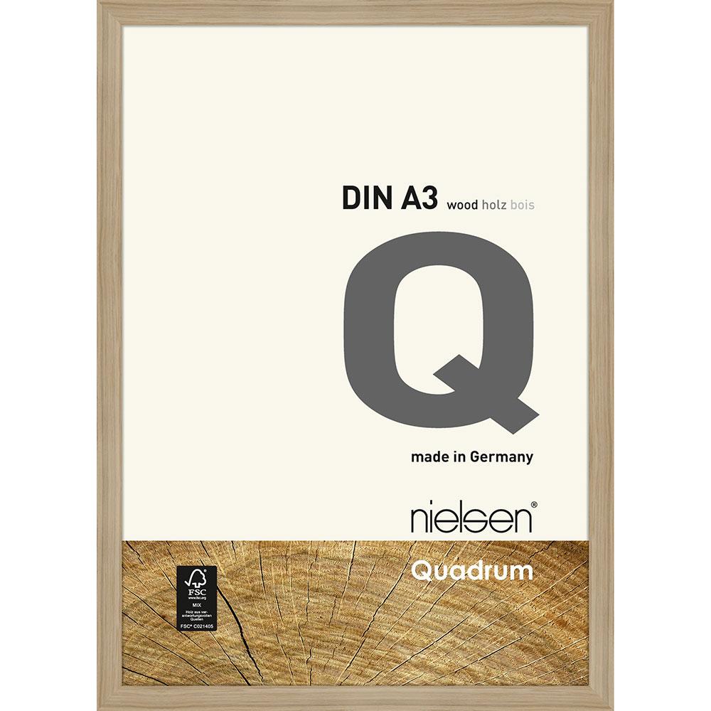 Lijst van hout Quadrum 29,7x42 cm (A3)   eik, natuur   normaal glas