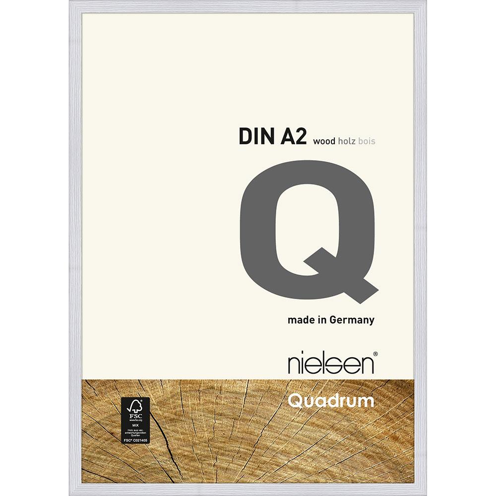 Lijst van hout Quadrum 42x59,4 cm (A2) | sneeuwwit | normaal glas