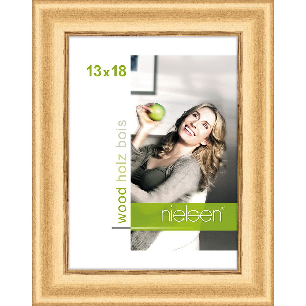 Lijst van hout Derby 13x18 cm | goud | normaalglas
