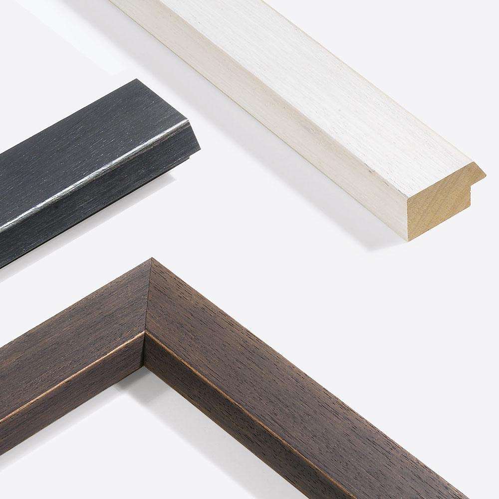 Lijst van hout Modern Shabby 50