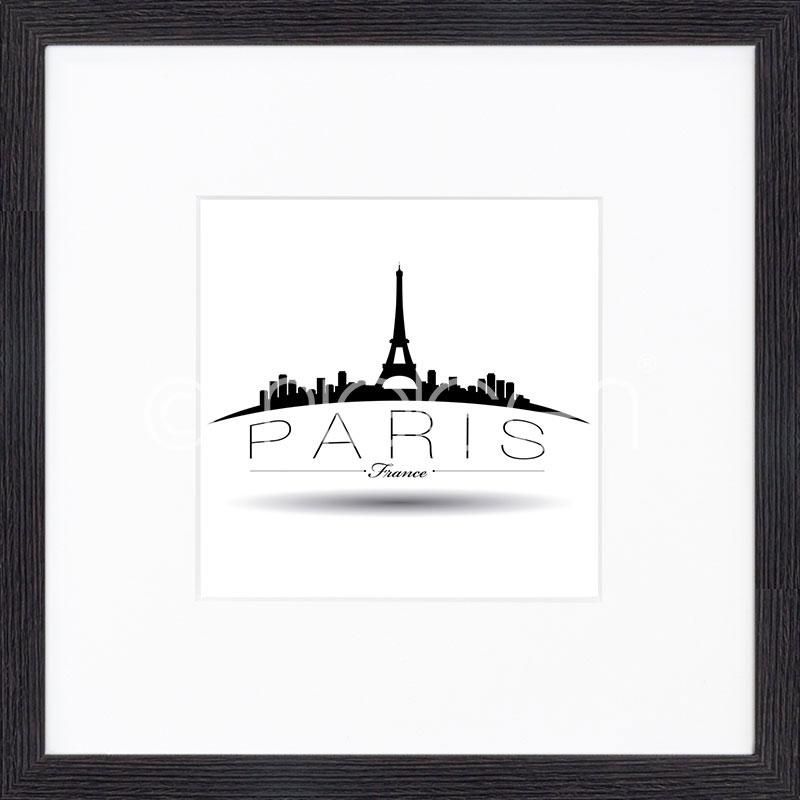 """Beeld met lijst """"Paris"""" met lijst van hout Quadrum"""