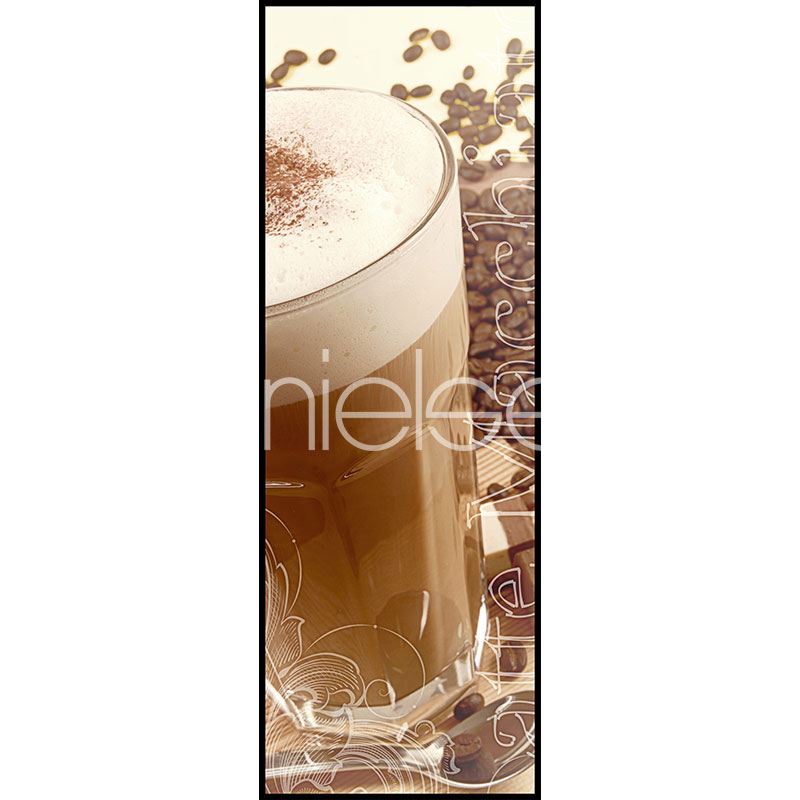 """Beeld met lijst """"Coffee Time"""" met lijst van aluminium C2"""