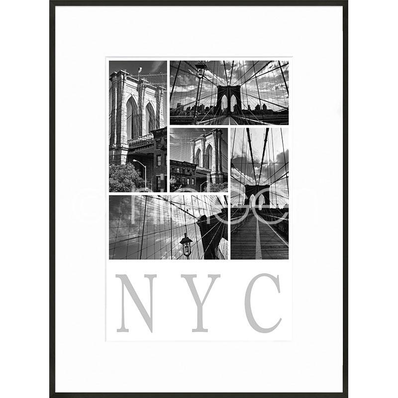 """Beeld met lijst """"New York City"""" met lijst van aluminium C2"""