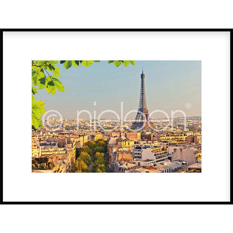 """Beeld met lijst """"Paris"""" met lijst van aluminium C2"""