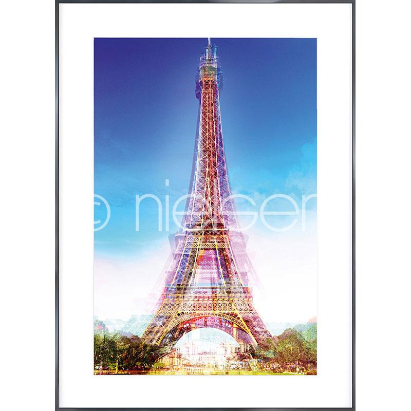 """Beeld met lijst """"Eiffel Tower"""" met lijst van aluminium Alpha"""