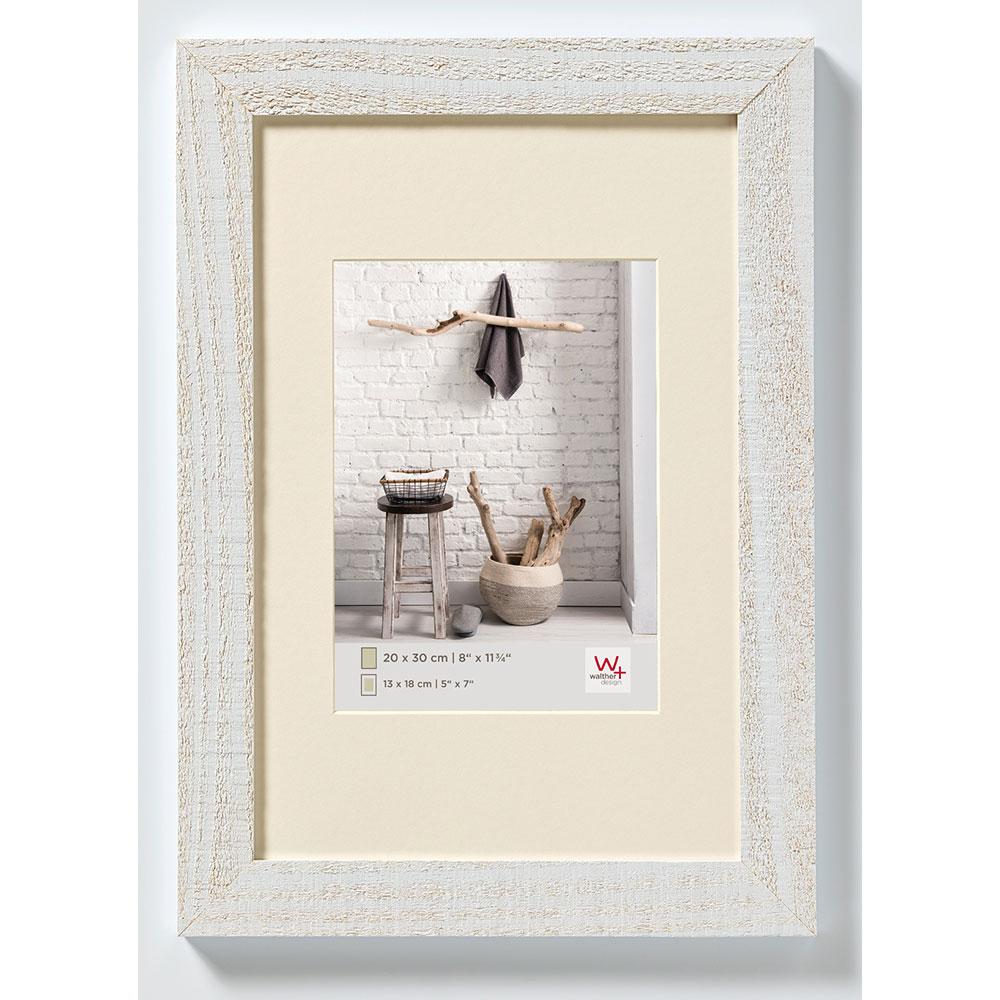 Lijst van hout Home 13x18 cm   polair wit   normaal glas