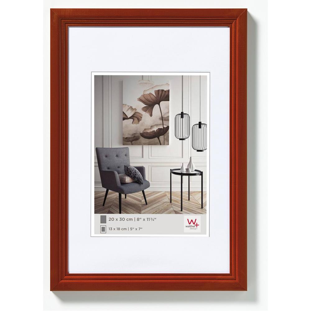Lijst van hout Living 10x15 cm | hazelnoot | normaal glas