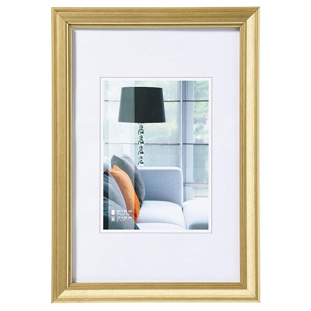 Lijst van plastiek Lounge 10x15 cm   goud   normaal glas