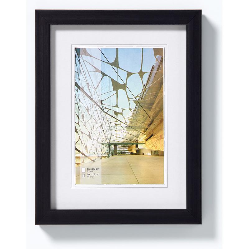 Lijst van plastiek Construction 13x18 cm   zwart   normaal glas