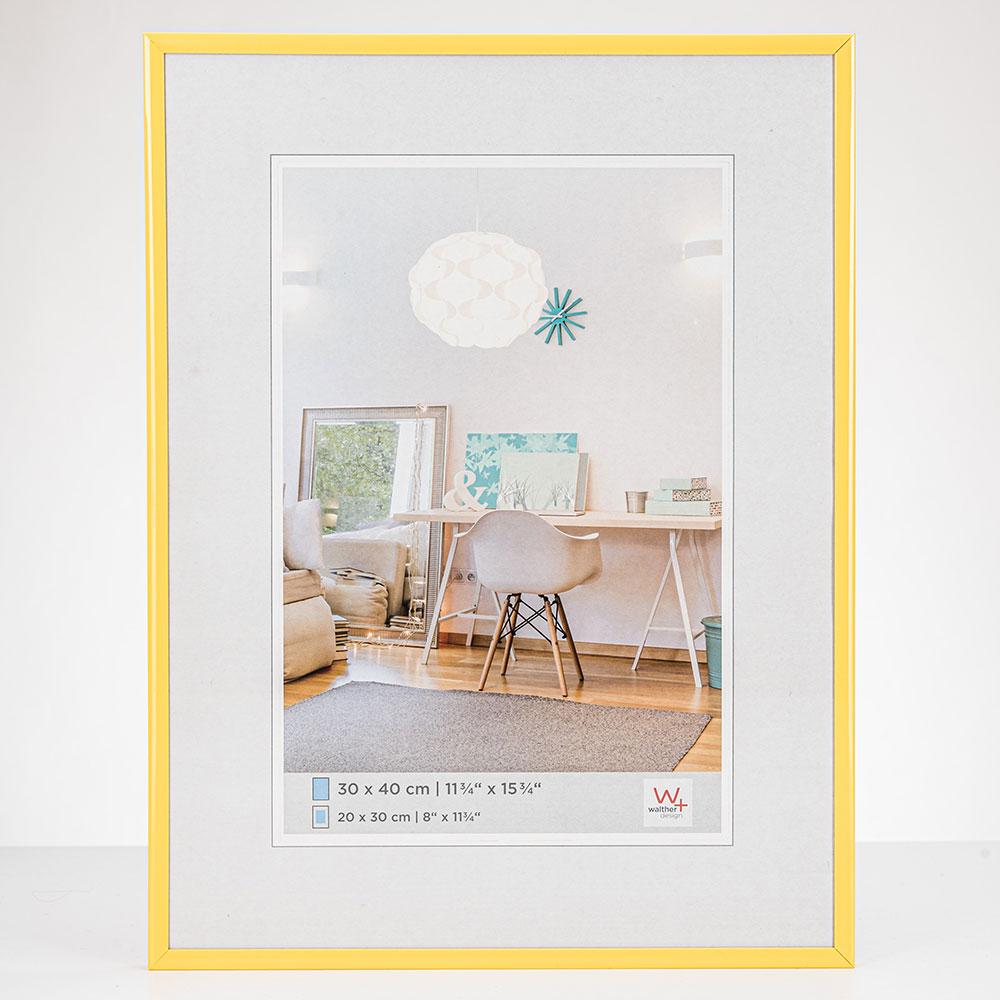 Lijst van plastiek New Lifestyle 13x18 cm | geel | normaal glas