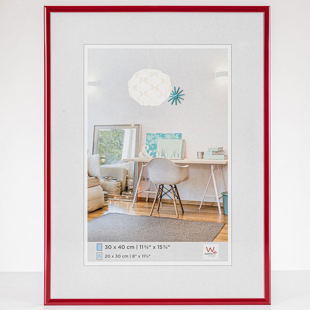 Lijst van plastiek New Lifestyle 10x15 cm | rood | normaal glas