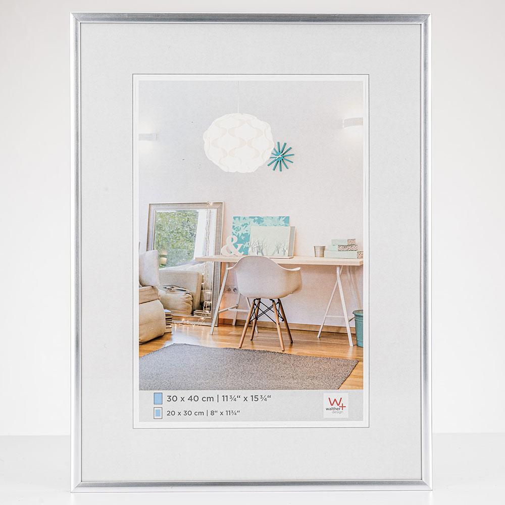 Lijst van plastiek New Lifestyle 18x24 cm | zilver | normaal glas