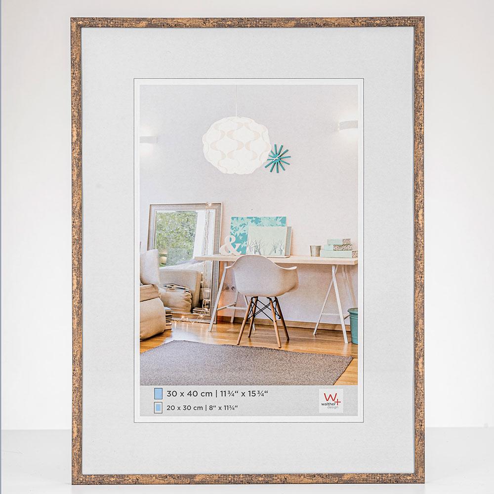 Lijst van plastiek New Lifestyle 10x15 cm | taupe | normaal glas