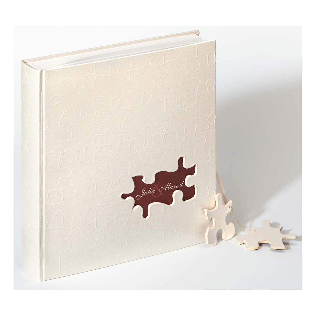 """Album voor huwelijk """"Puzzle"""" gepersonaliseerd"""