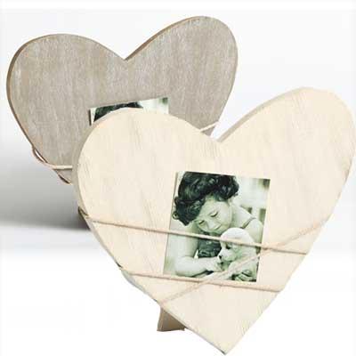 Fotolijst Bella 2, vorm van hart grijs